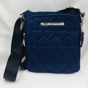 Betsy Johnson Heart Pattern Crossbody Purse Bag